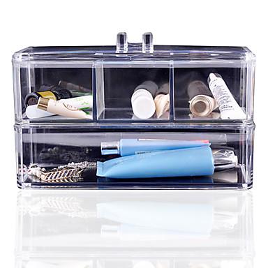 Acrylique Cosm Tiques Organisateur Maquillage Bo Te De Rangement En Plastique Cas Acrylique