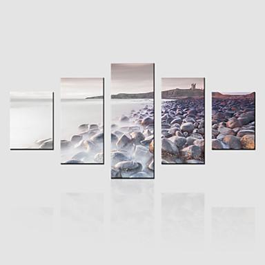Toile set paysage modern cinq panneaux toile verticale - Toile murale decorative ...