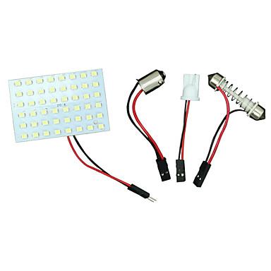 Buy 10X Festoon T10 BA9S White LED 48SMD Panel Interior Dome Map Light Bulb Lamp 12V