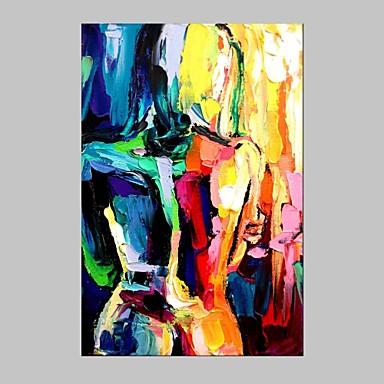 Oil painting modern figure style canvas material with for Materials for canvas painting