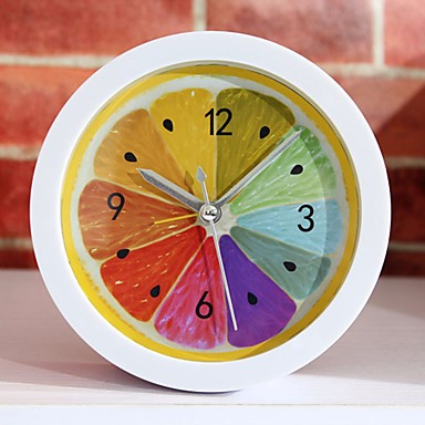New Style Rural Cool Lemon Fruit Alarm Clock Modern