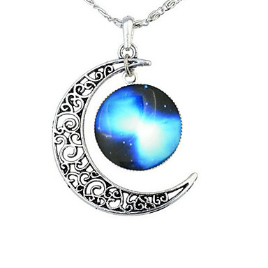 Necklace Pendant Necklaces Jewelry Halloween / Business / Gift / Party Moon Adjustable Alloy Gold 1pc Gift