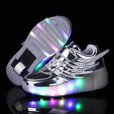 LED Light Up,Unisex Kid Boy Girl Single Wheel Sneaker ...