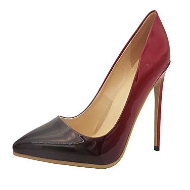 Women's Spring Summer Fall PU Office & Career Dress Party & Evening Stiletto Heel Red Beige