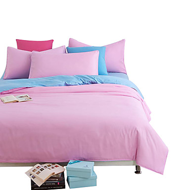 mingjie wonderful light blue and pink bedding sets 4pcs for twin full queen king size from china. Black Bedroom Furniture Sets. Home Design Ideas