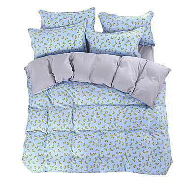 Mingjie wonderful blue and yellow banana bedding sets 4pcs - Yellow and blue bedding queen ...