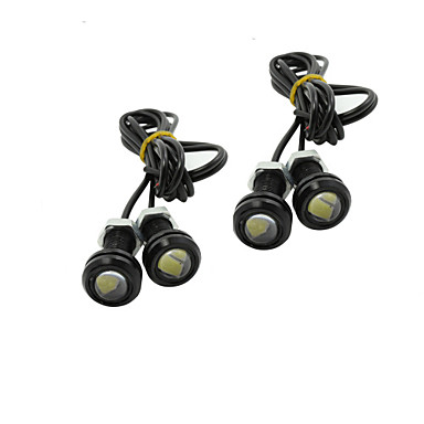 Buy 4X 9W LED Eagle Eye Light Car Fog DRL Daytime Reverse Backup Parking Signal black 12V