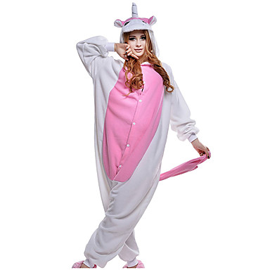 fb6bfa73e9 Adulto Pijamas Kigurumi Unicorn Animal Pijamas de una pieza Vellón de Coral  Rosa Cosplay por Hombre
