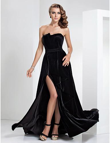 Vestido longo de veludo