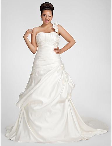 Lanting bride a line petite plus sizes wedding dress for Fall wedding dresses plus size