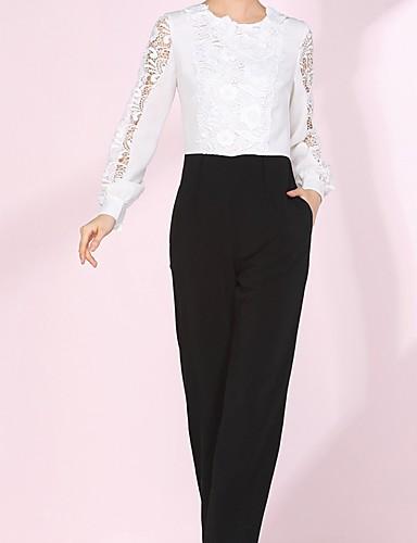 damen elegante spitze schlank jumpsuit random pattern. Black Bedroom Furniture Sets. Home Design Ideas