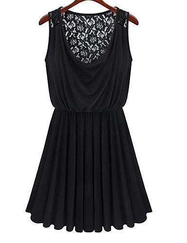 блюз шею женщин спинки кружевное платье