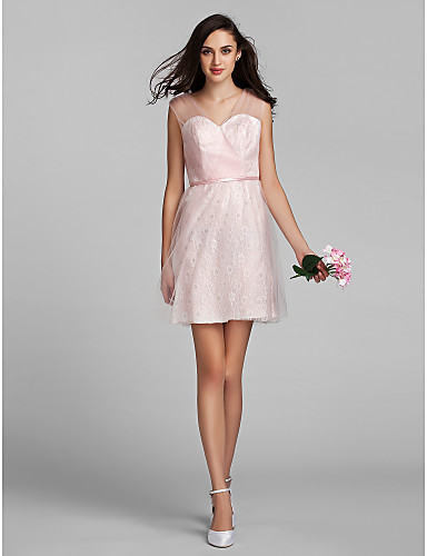 Vestido rosa claro curto