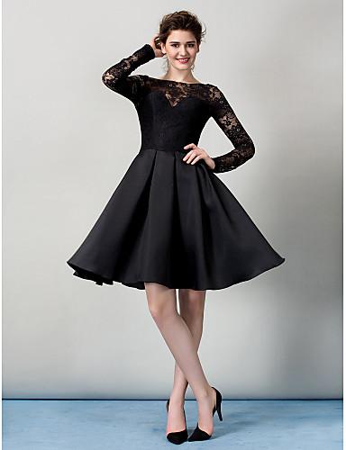 Buy TS Couture® Cocktail Party / Company Dress Plus Size Petite A-line Bateau Knee-length Lace