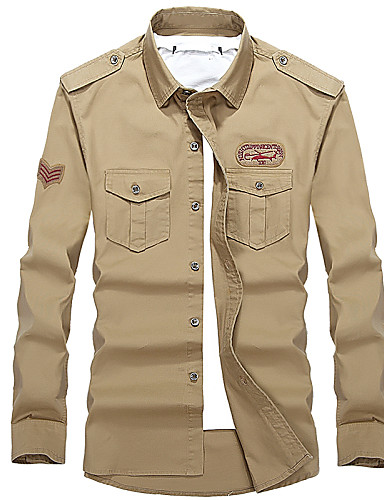 Buy wash shirt cotton long sleeved frock V-neck outdoor leisure coat color code DP loose
