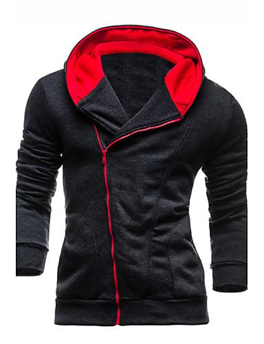 Buy 7 Colors Men's Slim Fleece Tracksuits Hoodie & Sweatshirt, Casual Sport Outerwear Coat