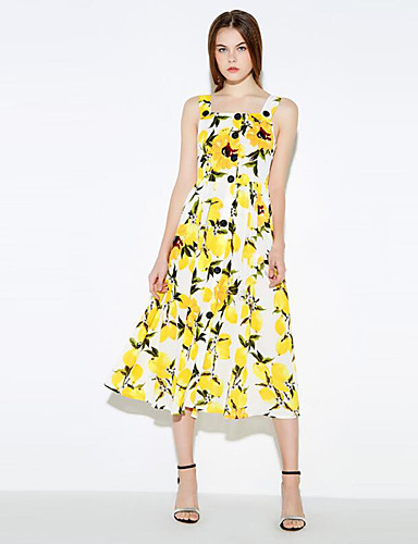 Women's Casual/Daily Sophisticated A Line Dress,Floral ... - photo#33