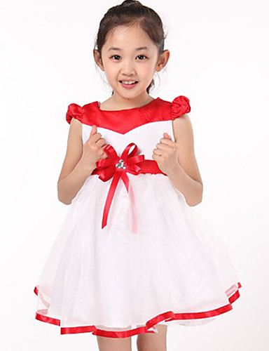 Buy Girl's Casual/Daily Patchwork Dress,Others Summer Blue / Red