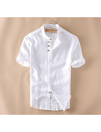 Men 39 S Casual Daily Simple Summer Shirt Solid Button Down
