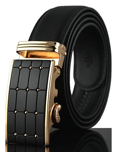 s genuine leather waist belt fashion business dress