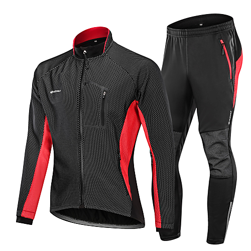 Nuckily Men s Cycling Jacket with Pants - Black   Red   Black   Green    Black   Blue Bike Clothing Suit 83fb634f2