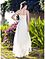 LAN TING BRIDE A-line Princess Wedding Dress - Classic & Timeless Reception Vintage Inspired Asymmetrical V-neck Organza with Lace