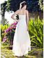 Lanting A-line/Princess Plus Sizes Wedding Dress - White Asymmetrical V-neck Organza