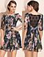 TS Impression Print Lace Dress