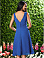 Lanting Knee-length Chiffon Bridesmaid Dress - Ruby / Grape / Royal Blue / Champagne Plus Sizes / Petite A-line V-neck