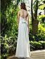 Lanting Bride® Sheath / Column Petite / Plus Sizes Wedding Dress - Classic & Timeless Floor-length Strapless Cotton with