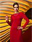 TS Couture Formalna večer Svečana priredba Haljina - Vintage motiv Celebrity Style Kroj uz tijelo Ovalni izrez Do poda Žersej s Falte
