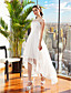 Lanting Bride® A-lijn Petite / Grote Maten Bruidsjurk Asymmetrisch Bateau Chiffon met