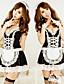여성제품 레이스 란제리 / 울트라 섹시 / 유니폼 & 청삼 / 수트 잠옷여성의 레이스 / 폴리에스테르 블랙