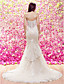 LAN TING BRIDE Τρομπέτα / Γοργόνα Νυφικό Σι-θρου Ουρά μέτριου μήκους Σχήμα Καρδιάς Δαντέλα Τούλι με Διακοσμητικά Επιράμματα Σε επίπεδα