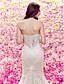 Lanting Bride® 트럼펫 / 머메이드 퍼티트 웨딩 드레스 코트 트레인 스윗하트 레이스 / 튤 와