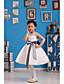 С пышной юбкой До колена Детское праздничное платье - Сатин / Тюль Без рукавов Круглый вырез с