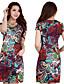 Γυναικεία Φόρεμα Φτερό/Πλισέ Στρογγυλή Ψηλή Λαιμόκοψη/Στρογγυλή Λαιμόκοψη Πάνω από το Γόνατο Κοντομάνικο Σιφόν/Πολυεστέρας/Νάιλον