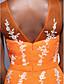TS couture® официально платье вечера плюс размер / изящная труба / русалка совок длиной до пола шифон / тюль с аппликациями