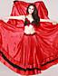 Dança do Ventre Roupa Mulheres Actuação Cetim Pano 2 Peças Saia / Conjuntos de Sutiã e Calcinhas Skirt length : 96cm