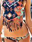 Virágmintás / Pántos Megkötős Női Bikini , Push-up / Drótnélküli / Párnás melltartó Poliészter