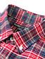 JamesEarl Masculino Colarinho de Camisa Manga Comprida Shirt & Blusa Vermelho - DA192034201