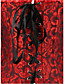 Для женщин Классический корсет Ночное белье Сексуальные платья / С принтом / Увеличивающий объем Жаккард-Средний ПолиэстерКрасный /