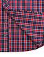 JamesEarl Masculino Colarinho de Camisa Manga Comprida Shirt & Blusa Vermelho - MB1XC000301