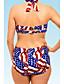 여성의 비키니 꽃 폴리에스테르 / 스판덱스 홀터 넥 패드 브라