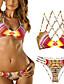 Ženski Bikini - Bandeau grudnjak - Bez žice / Nepodstavljen grudnjak - Color block - Najlon / Spandex
