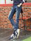 Pantalon de Sport Pour des hommes Couleur plaine Décontracté Coton Bleu