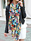 Damer Vintage / Kontor / Casual Chiffon Halstørklæde-Trykt mønster Rektangulær