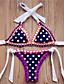 Kvinner Dyr / Snøring Push-up Bandeau Bikini Nylon / Polyester