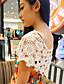 Damen Solide Sexy / Street Schick Lässig/Alltäglich Bluse,Rundhalsausschnitt Sommer Ärmellos Weiß Polyester / Nylon Dünn