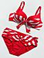 Kvinner Push-Opp / Bohem Halter Bikini Nylon / Spandex